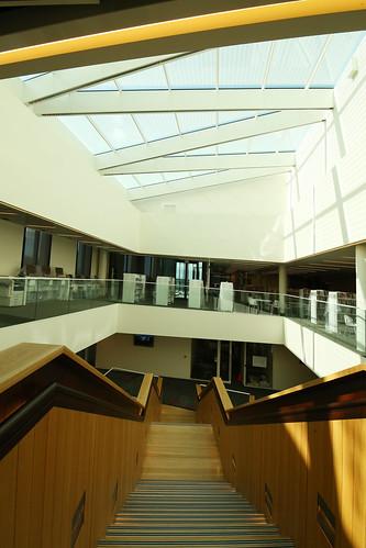 Staircase and skylight, Tūranga