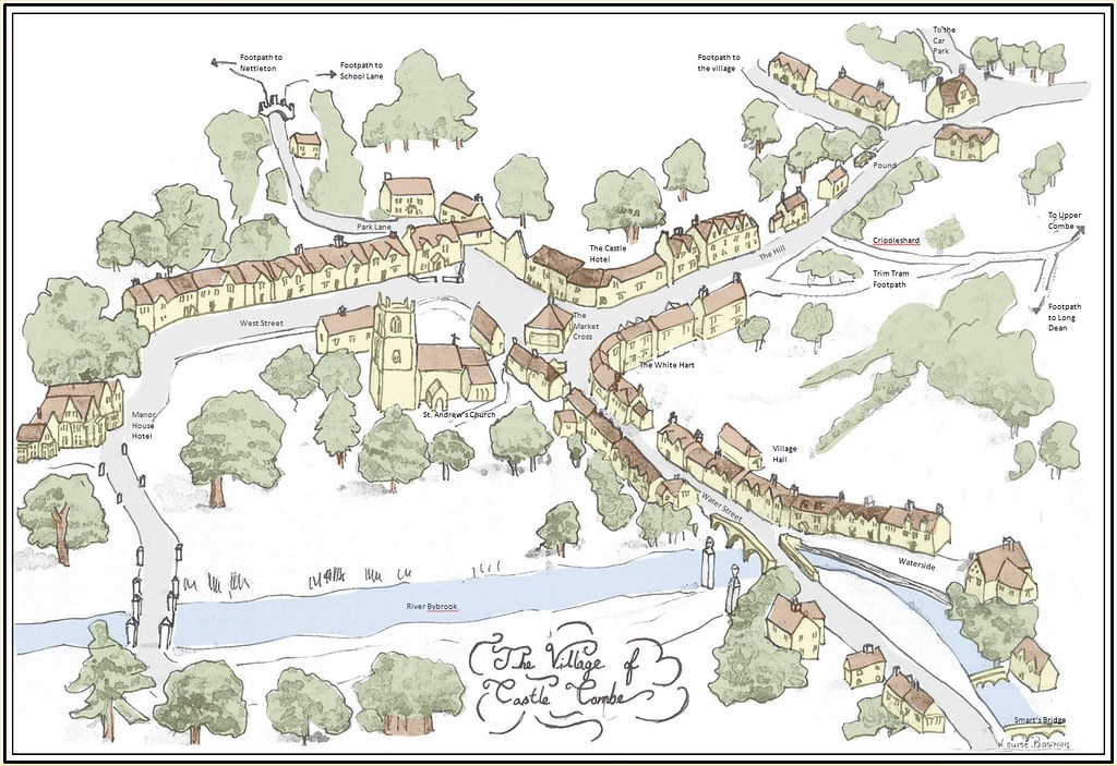Castle Combe Map