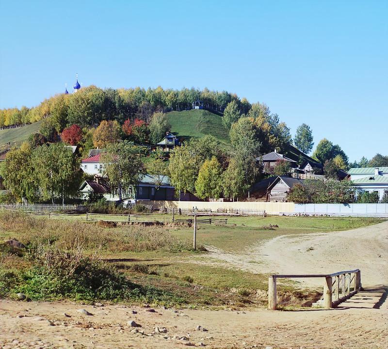 Вид на городище с главным собором