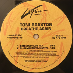 TONI BRAXTON:BREATHE AGAIN(LABEL SIDE-A)