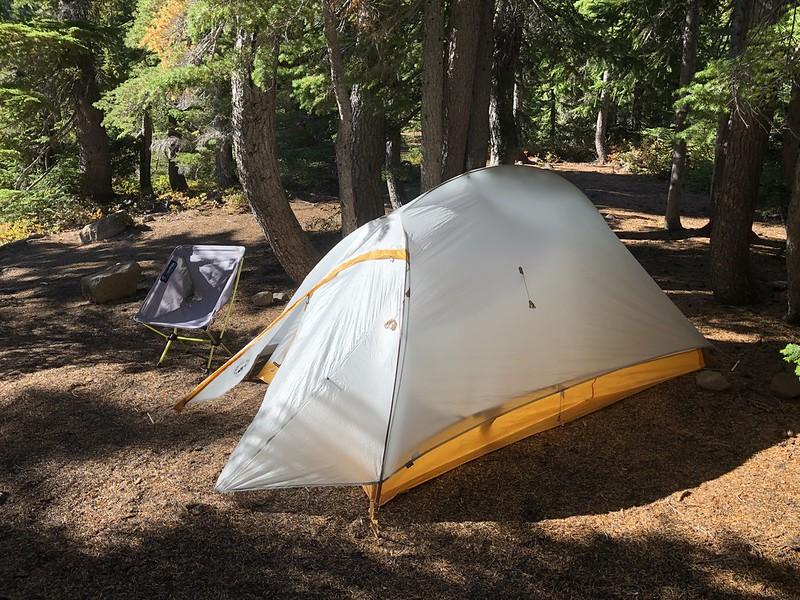 Table Lake campsite
