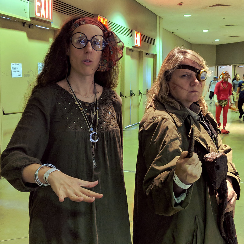 "Hogwarts Professors Trelawney and ""Mad-Eye""  Moody"