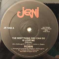 ROBIN:THE BEST THING YOU CAN DO IS LOVE ME(LABEL SIDE-A)