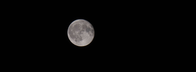 The late August full moon
