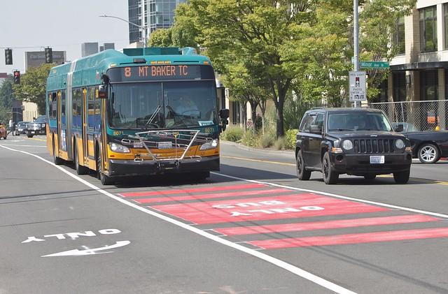 Denny Way bus lane