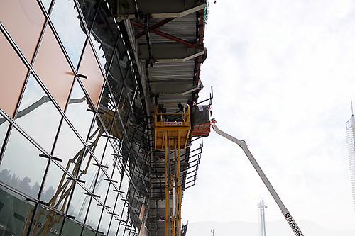 SCL Espigon C instalación paneles (Nuevo Pudahuel)