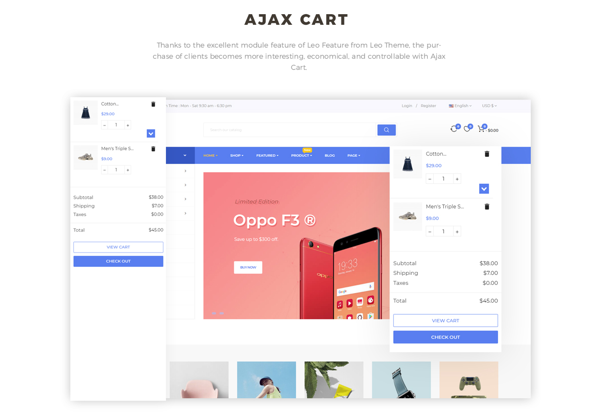 ajax add to cart - Prestashop 1.7 theme for Hitech