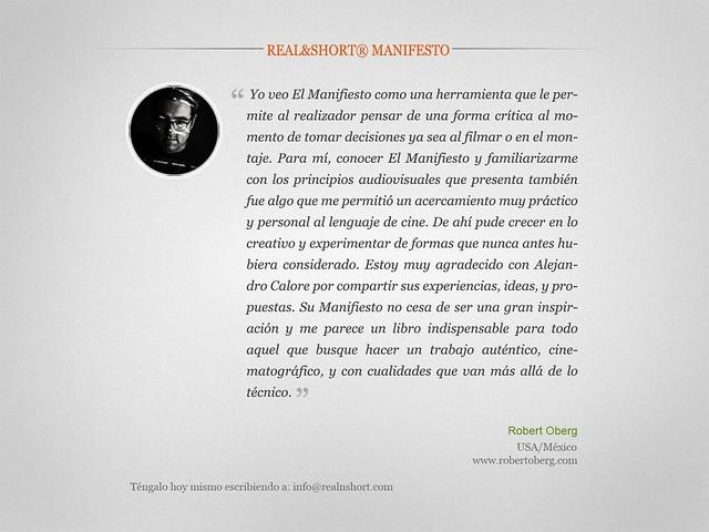MANIFIESTO REAL&SHORT