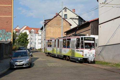 TWSB Tatra KT4DM #313 Gotha Reuterstraße