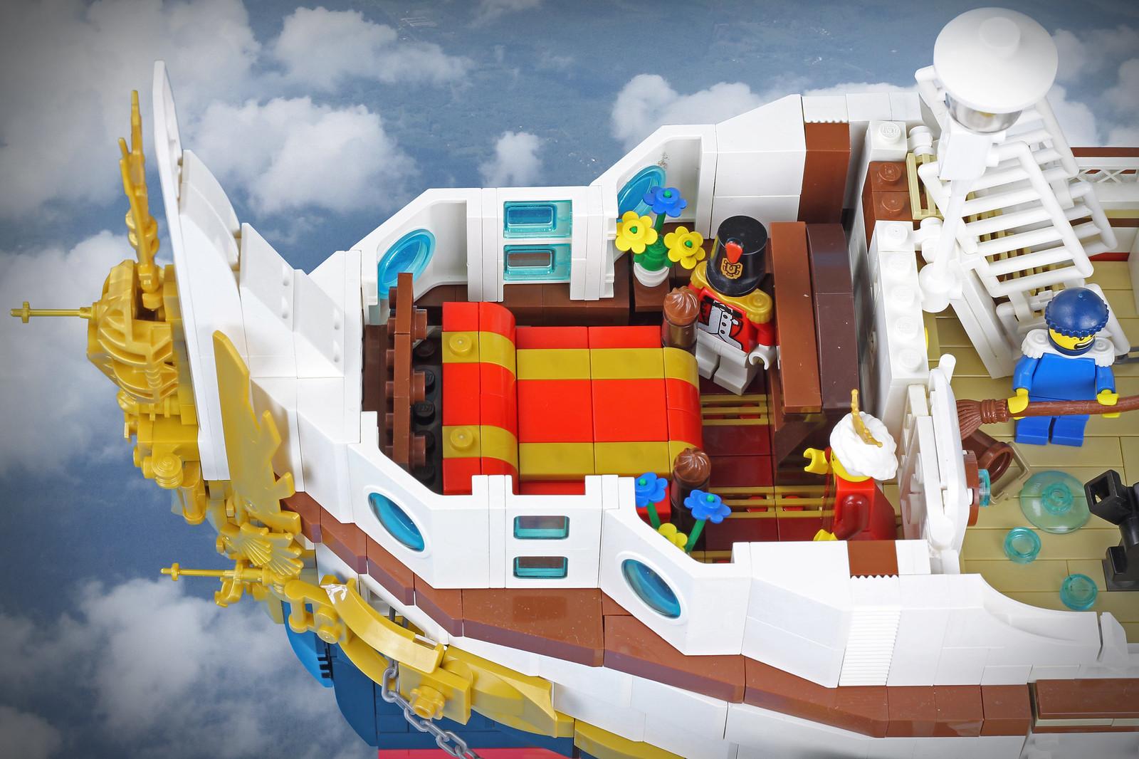 лего корабль облако