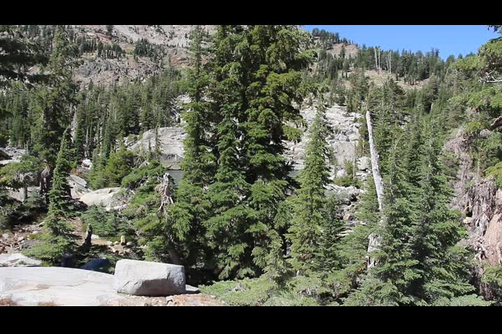 1999 Panorama video looking north from the Pacific Crest Trail near Fontanillis Lake