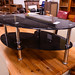 Black glass coffee table E50