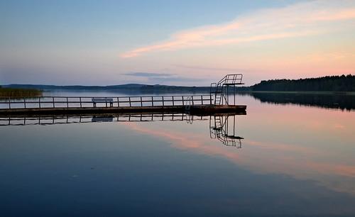 Calm evening on the lake Päijänne. #Autumn #Finland