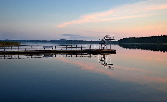 Calm evening on the lake Päijänne. #Autumn #Finland