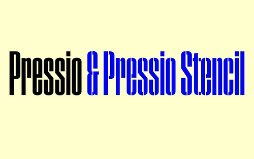 Pressio, a typeface designed by New York-born, Dublin-based designer Max Phillips at Signal Type Foundry. Selected for the 100 Archive 2017