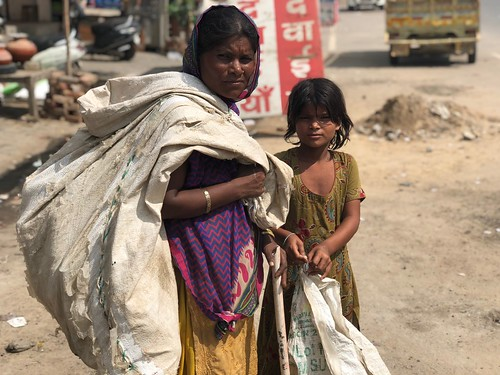 City Life - The Mother as a Waste Picker, Gurgaon
