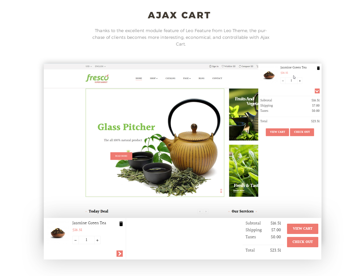 ajax add to cart - Prestashop 1.7 theme for tea website