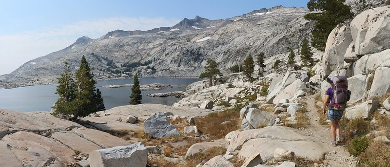 Rubicon Trail near the north end of Lake Aloha as it climbs toward Mosquito Pass