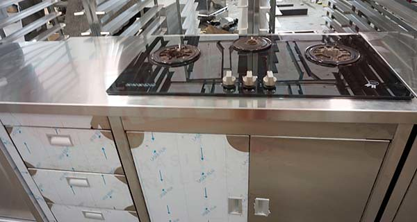 kitchen set stainles steel