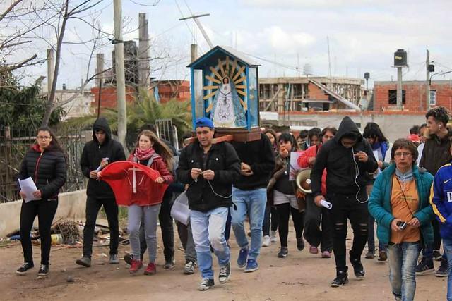 Misión juvenil en Fiorito