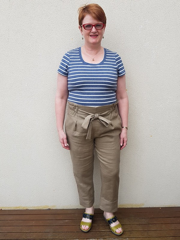 Style Arc Tully pant in linen
