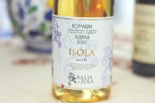 Albana Isola, Balia di Zola, vino bianco per pesce fritto e polpo alla grilia