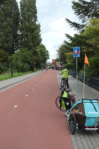 Genug Platz in der Fahrradstraße