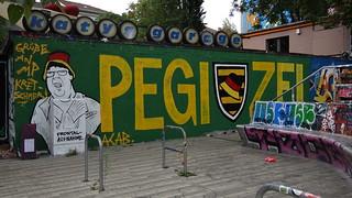 Pegizei  ergriff sich Raserei in Dresden strich von still voll Leid der Neustadt 00297