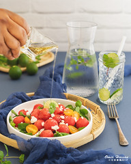 Watermelon Salad with feta cheese 2
