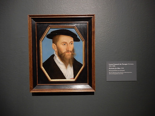 DSCN2629 - Portrait of a Man, Lucas Cranach the Younger, The Pre-Raphaelites & the Old Masters