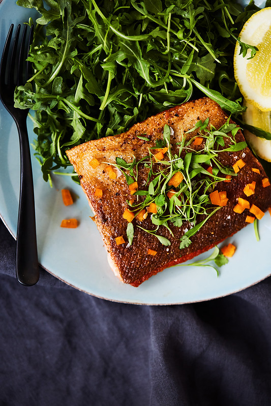 6-Minute Crispy Skin Cast Iron Salmon