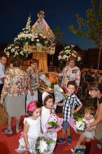 Virgen de Vico 2018. Ofrenda floral
