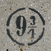 Hogwart's Express platform number - stenciled on a wall in Bourg-la-Reine, France by Monceau