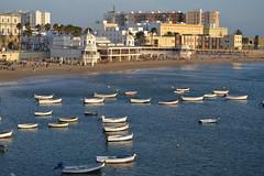 Playa de La Caleta en septiembre