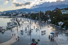 Rainy Yalta. September. Crimea.