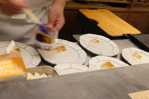 焼物「カルボナーラ米と自由自由」