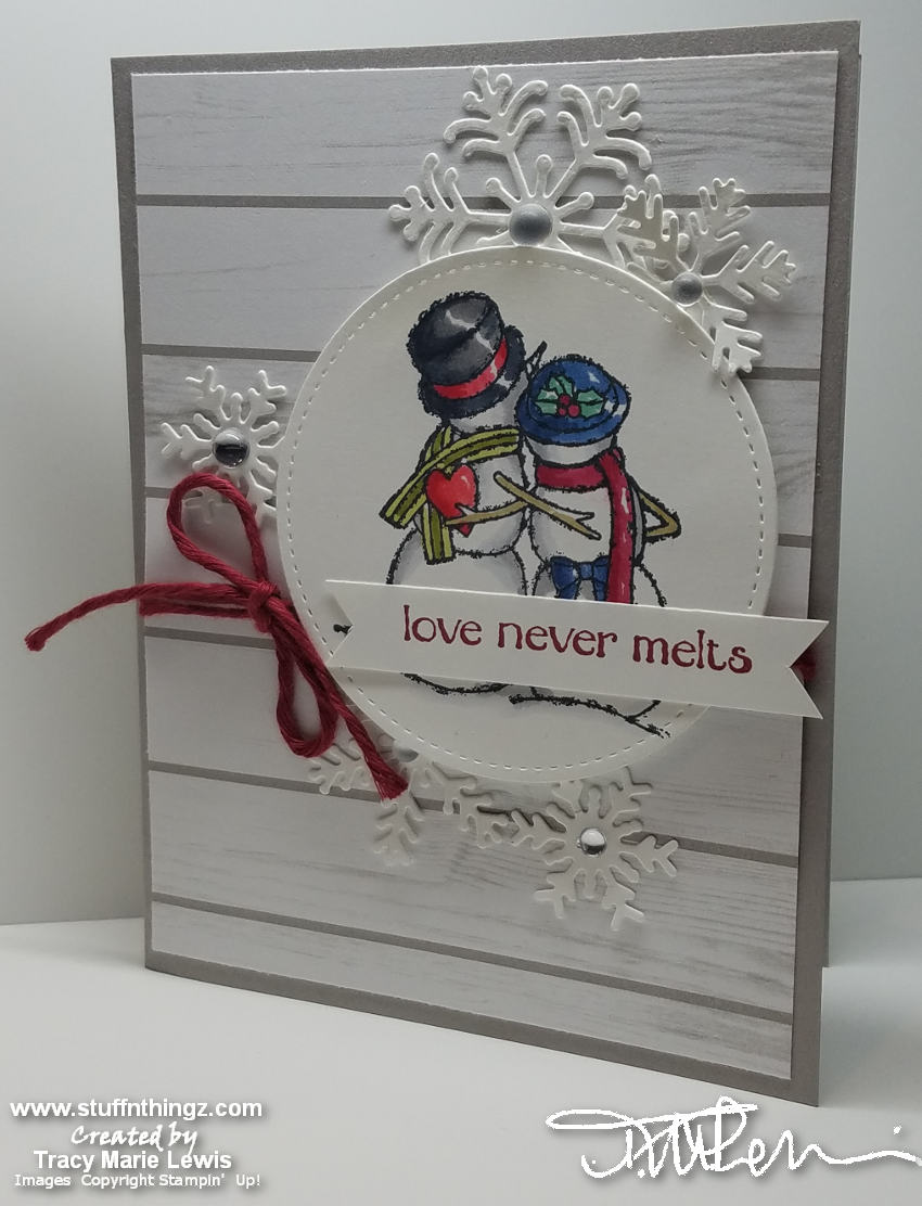Spirited Snowmen By Stampin' Up! | Tracy Marie Lewis | www.stuffnthingz.com