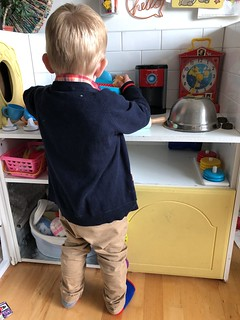 Six years and two boys have tried their hardest to wear out this play kitchen, but no sign of weakness yet. EvinOK.com