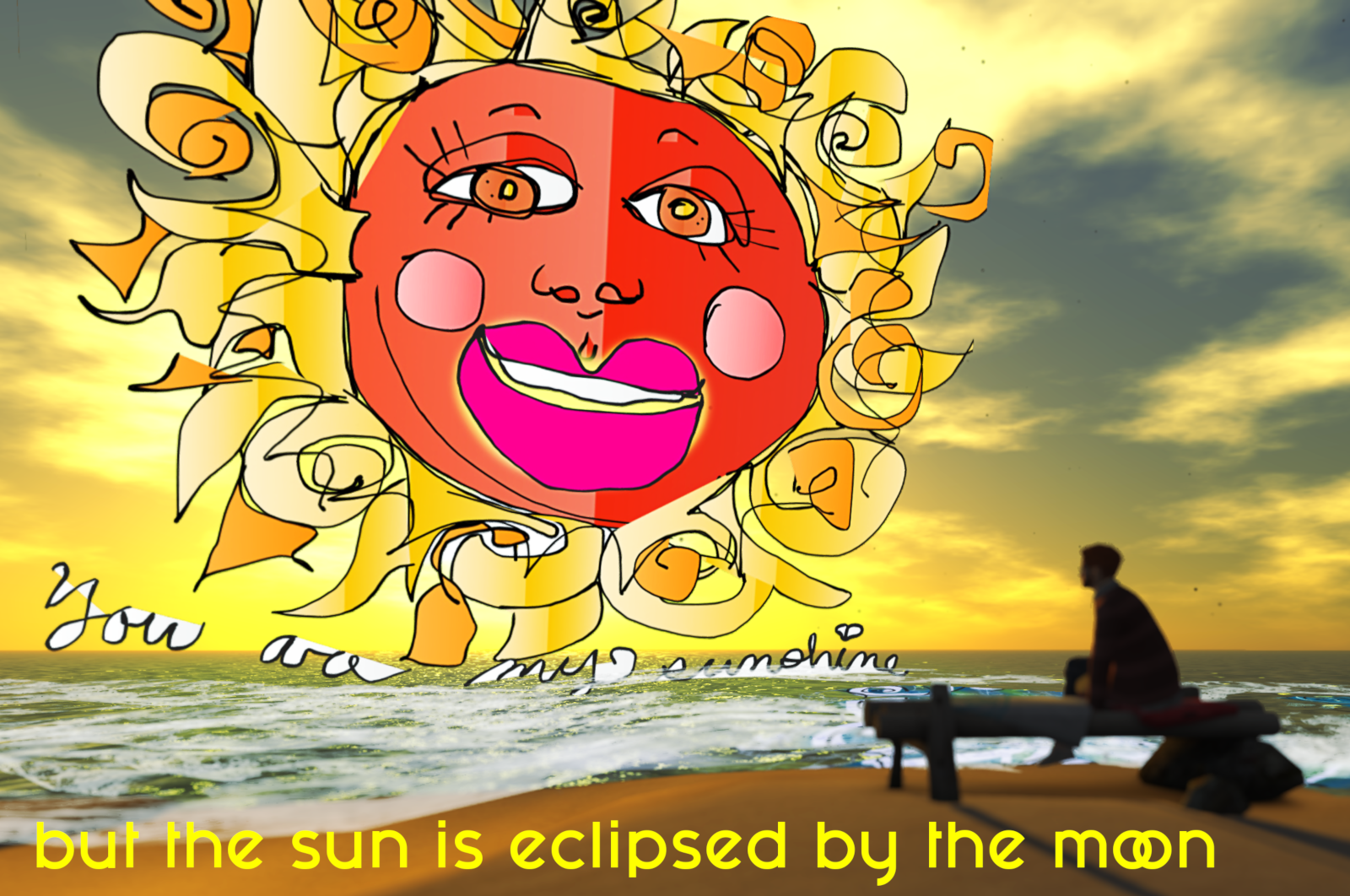 But the sun is eclipsed by the moon (by Ricco Saenz)