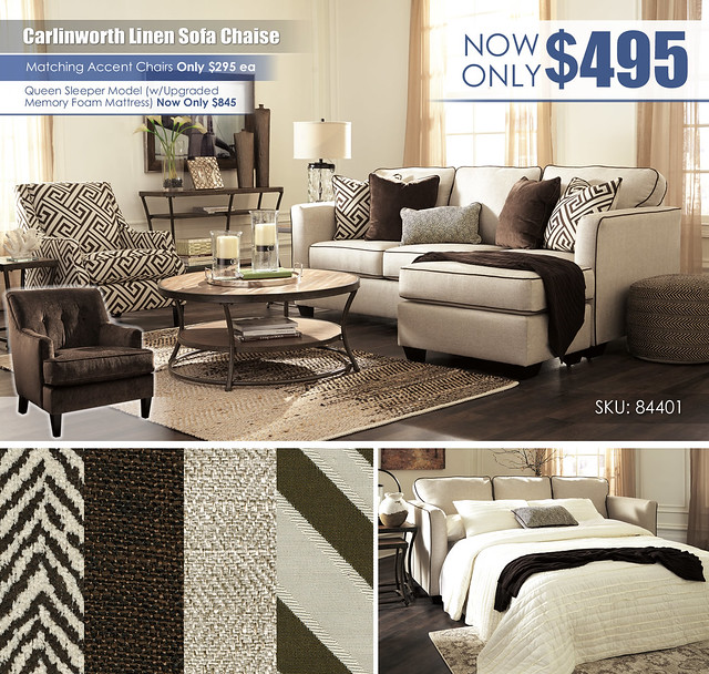Carlinworth Linen Sofa Chaise_84401-18-21-T805
