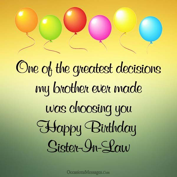 Best Birthday Quotes Happy Sister In Law