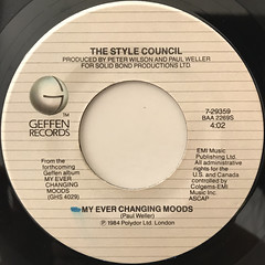 THE STYLE COUNCIL:MY EVER CHANGING MOODS(LABE SIDE-A)