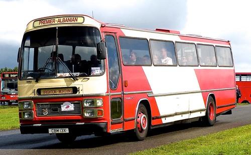 CBM 13X 'Premier-Albanian'. Leyland Tiger  / Plaxton Supreme VI on Dennis Basford's railsroadsrunways.blogspot.co.uk'