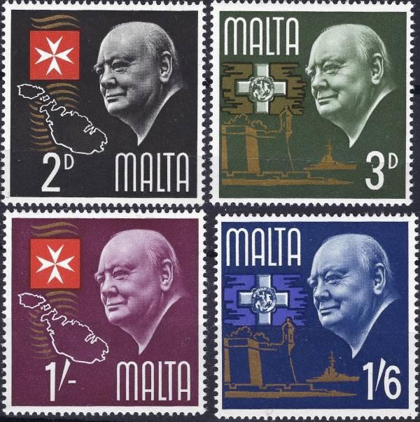 Známky Malta 1966 W. Churchill, nerazítkovaná séria
