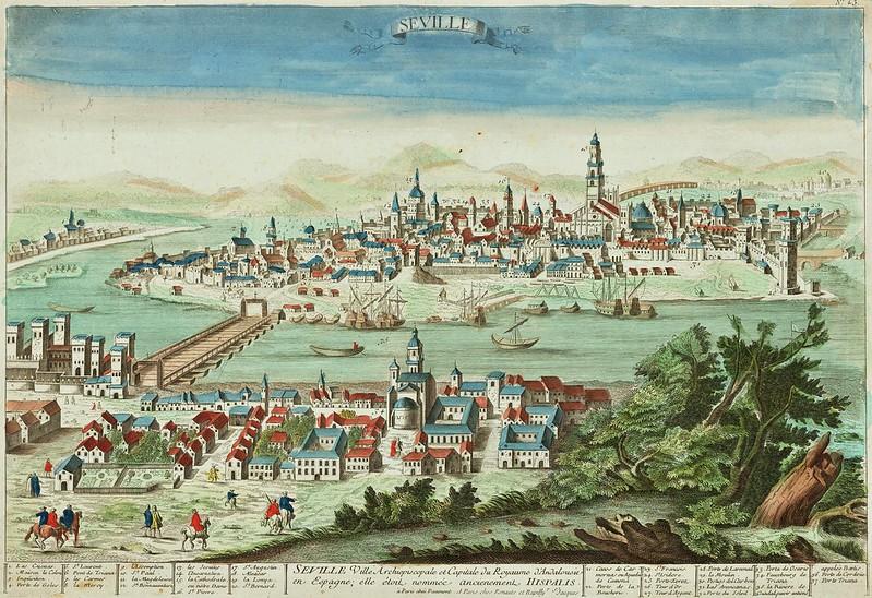 Jean-Francois Daumont - Seville Ville Archiepiscopale et Capitale du Royaume d'Andalousie en Espagne, elle etoil nomec ancienement Hispalis (c.1740)