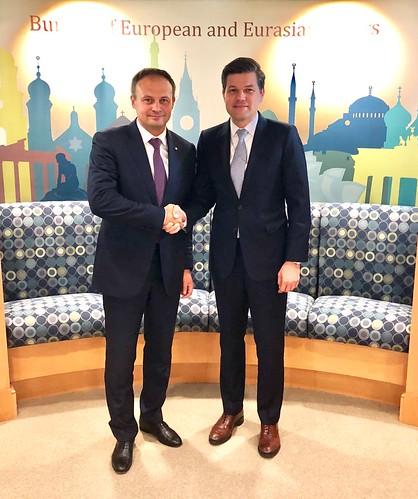 18.09.2018 Întrevedere Andrian Candu cu Wess Mitchell, asistentul Secretarului de Stat american pentru afaceri europene și eurasiatice.
