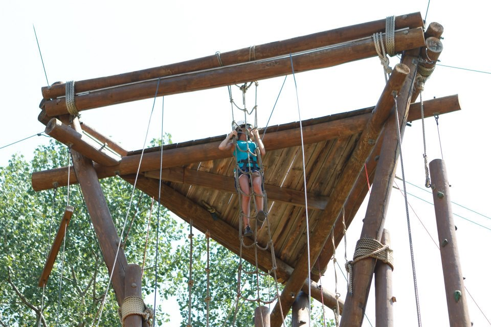 Climbing to the platform at the retreat