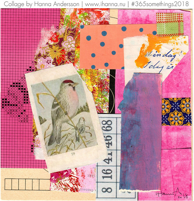 Pink Chested Well-Wisher - Collage no 246 by iHanna