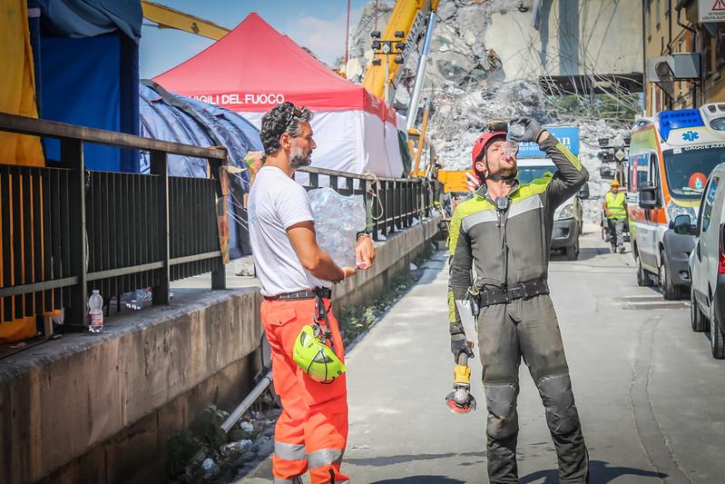 Genova, Ponte Morandi: chiusa la fase di assistenza con il campo cucina