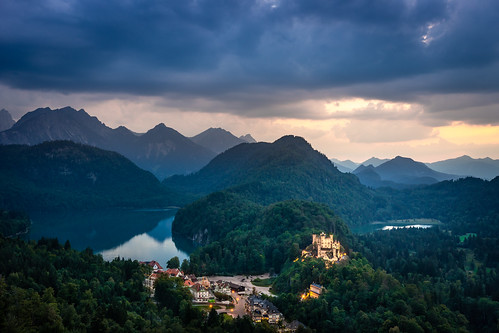 Blue hour at castle Hohenschwangau from Toni Hoffmann
